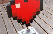 Corazón de MineCraft (madera)