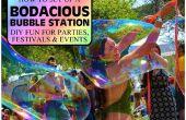 Configurar una estación de burbuja BODACIOUS para fiestas, fiestas y eventos - crear su propia diversión gigante!!!