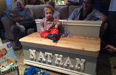 Hermoso juguete madera caja