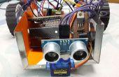 Control remoto obstáculo evitando Robot con PIC microcontrolador