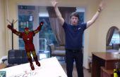 Realidad usando Unity3D, Vuforia, Zigfu y Kinect: carácter de Control con tu cuerpo aumentada