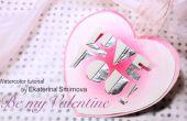 Tarjeta de San Valentín en acuarela!