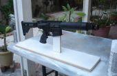 Exhibición de armas de fuego o pintura soporte