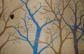 Disponen de pared para dormitorio - árboles en arpillera
