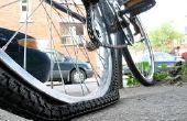 Fijación de un neumático de bicicleta pinchado