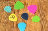 Reciclar plástico en selecciones de la guitarra!