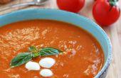 Sopa cremosa de tomate caseras
