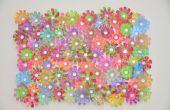 Consejo de decoración de flores de plástico