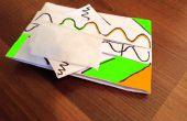 Caja de origami del tejido