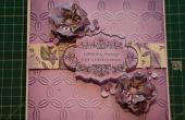 Cómo hacer un Anna Griffin frontera Floral púrpura tarjeta