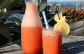 Limonada de jengibre fresa