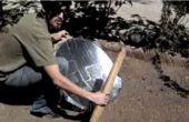 Estufa solar con Antena y bolsas de galletas