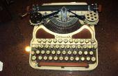 Restauración de un caso de la máquina de escribir de 1926