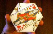 El Monte de tres cartas - un monedero Origami