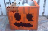 Decoración de la caja madera Minecraft Jack O Lantern Candy