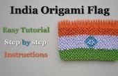 Bandera de papiroflexia en 3D de India