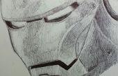 Hombre del hierro de la pluma dibujo
