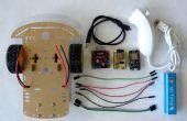 ESP8266 y Visuino: mando a distancia WiFi Smart coche Robot con Wii Nunchuck