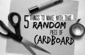 5 cosas para hacer con esa pieza al azar de cartón