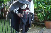 Assassins Creed negro edición Cosplay