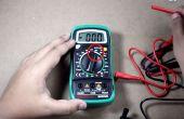 Cómo medir voltaje con el multímetro