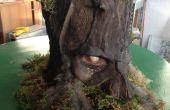 Iluminar el bosque fantasma máscara de bajo costo de reciclaje haciendo Tutorial