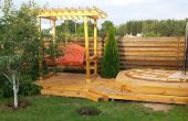 7-en-1 apretón de verano: bañera de hidromasaje cubierta, columpios, Cenador, calentador, birdhouse, columpio hamaca