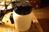 Ventilador de aire frío reutilizar botellas de plástico
