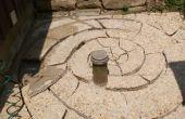 Patio de ladrillo de piedra de espiral personalizado