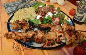 Pinchos de pollo vinagre balsámico y la miel