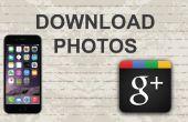Cómo descargar fotos de Google Plus en aplicación móvil