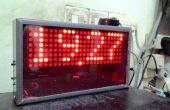 Cuerpo DIY Reloj Digital de matriz de puntos con la instalación del Cable Canal U