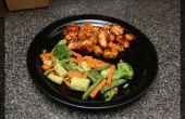 Pollo chino naranja