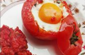 Huevo en un nido de tomate!
