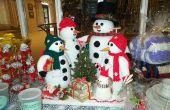 Crochet y punto familia muñeco de nieve