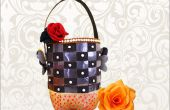 Ideas de arte reciclado: Cómo hacer utilidad de cesta de reciclado artesanal