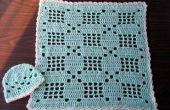 Pequeño bebé Filet Crochet Set