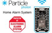 Sistema de alarma casera de fotón partícula