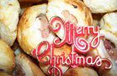 Especial de la familia: rollitos de salchicha de Navidad.