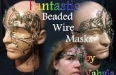 Fantástico de cuentas máscaras de alambre