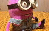 Personalizado hecho púrpura Minion marioneta