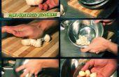 Cómo limpiar un alimento ajo italiano