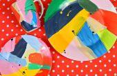 Arte abstracto pintado platos