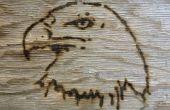 Grabar una imagen en madera utilizando una lupa!