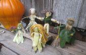 Vamos a hacer muñecas de maíz cáscara! ~ Arte de acción de gracias
