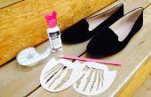 Zapatos de esqueleto hechos con plantillas de corte de láser