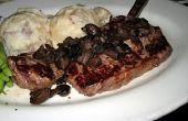 Como hacer un bistec grande con bandeja de goteo de salsa. ¿