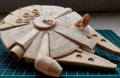 (Otro no tan Mini) Millennium Falcon Popsicle Stick modelo