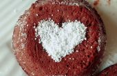Lava fundida de Chocolate torta