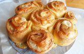 Ramo de rosas con jamón y queso
